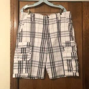 Plaid Lee Cargo Shorts